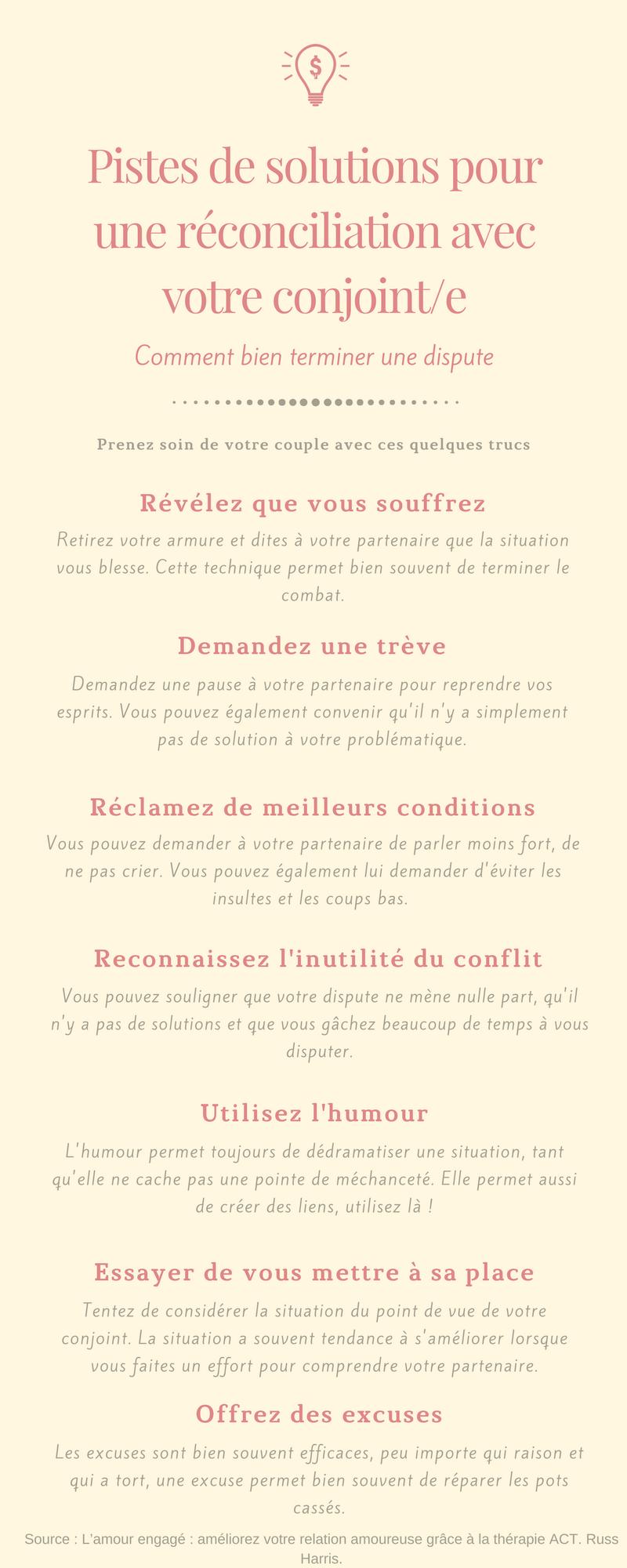 Pistes de solutions pour une réconciliation avec votre conjoint/e Par Jade Cousineau Sexologue Blainville Laval Rosemère Laurentide Mirabel